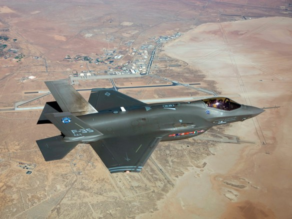 F-35 over airbase