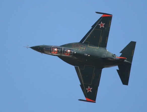 Yak-130 twinengined military jet trainer