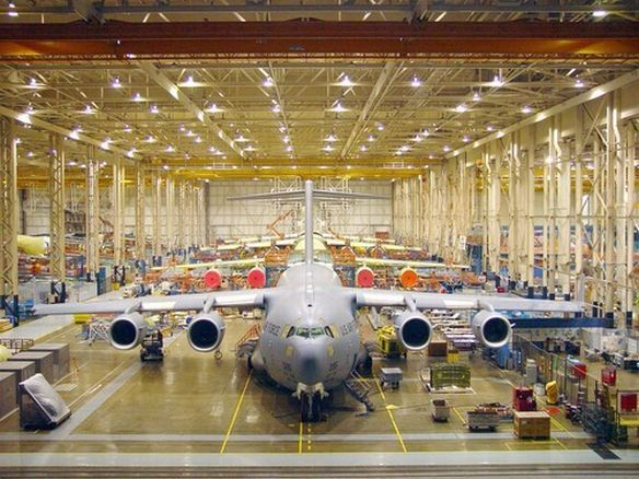 C-17 assembly line