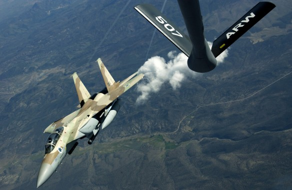 F-15I Ra'am refuel during Red Flag