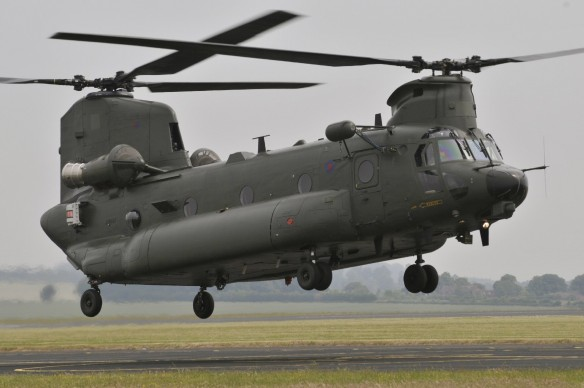 Chinook Mk3 test flight