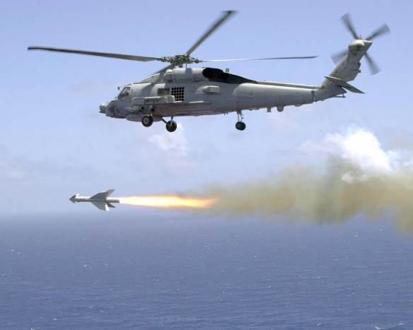 Penguin Missile launch from SH-60B