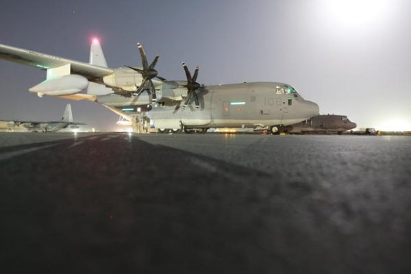 KC-130J at night