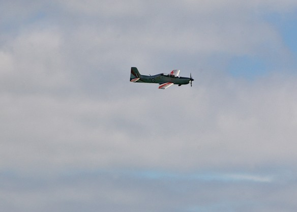 Tucano in the air