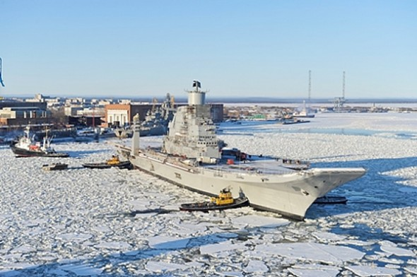INS Vikramaditya before Sea Trials at Sevmash