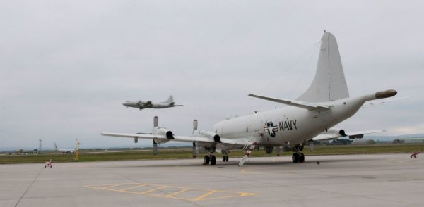 U.S. Navy P-3C Orion a skóciai RAF Lossiemouth légibázison az Exercise Joint Warrior 2014-1 hadgyakorlat ideje alatt. | Fotó: © UK MoD Crown Copyright 2014